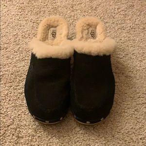 Ugg black clogs size 8